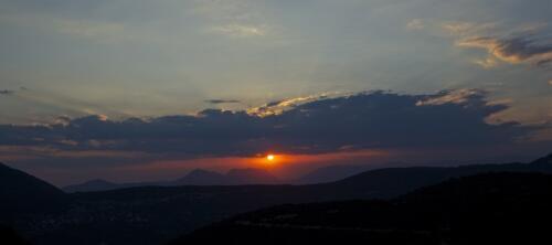 Ηλιοβασίλεμα στη Βίνιανη © Πάνος Καντερές