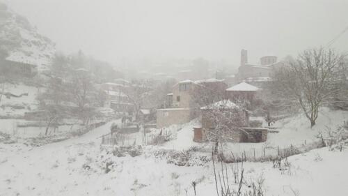 Βαρύς ο χειμώνας στα 1200 μ. © Θεοδοσία Ντάλλα