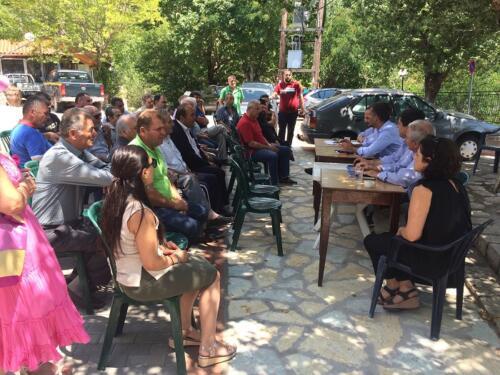 Συνελεύσεις Κ. Μπακογιάννη στο Κερασοχώρι