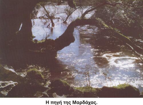 Η πηγή της Μαρδάχας © Σύλλογος Τριποταμιτών Αιτωλοακαρνανίας